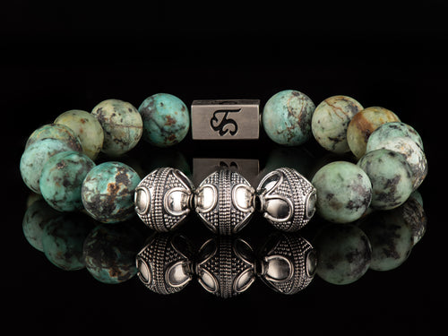 Evo - Exclusive Silver Men's Stone Bracelet
