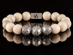 Riverstone - Exclusive Silver Men's Stone Bracelet