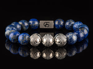 Royalty - Exclusive Silver Men's Stone Bracelet