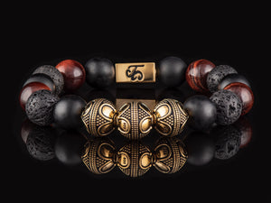 Molten Flame - Exclusive 24K Gold Men's Stone Bracelet