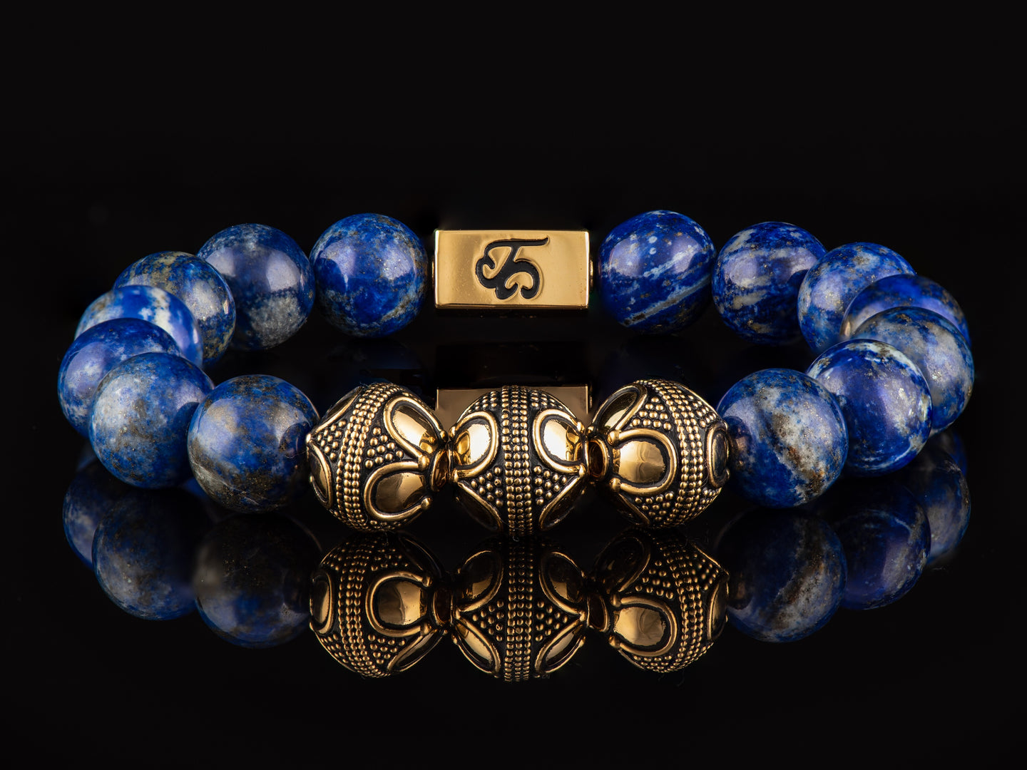 Royalty - Exclusive 24K Gold Men's Stone Bracelet