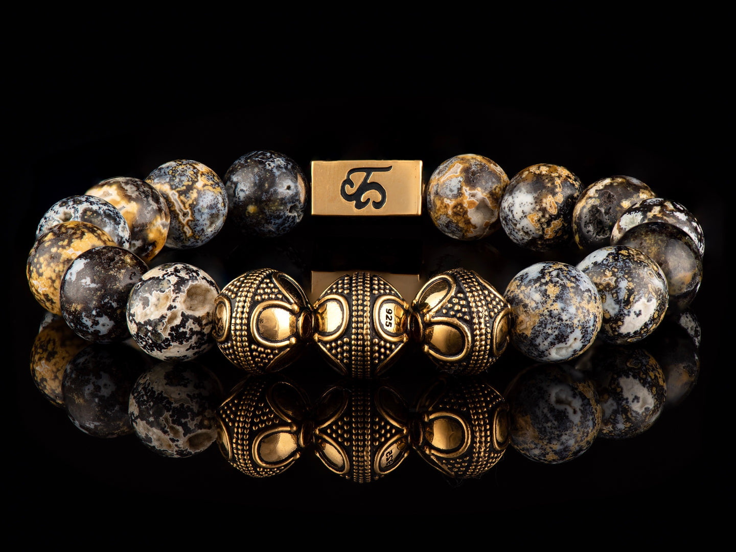 Seadweller - Exclusive 24K Gold Men's Stone Bracelet