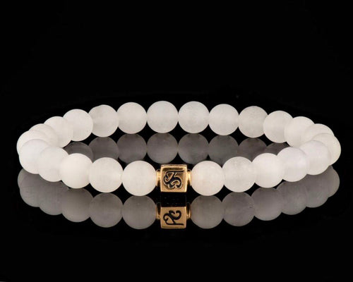 Transformer - Slim 24K Gold Men's Stone Bracelet