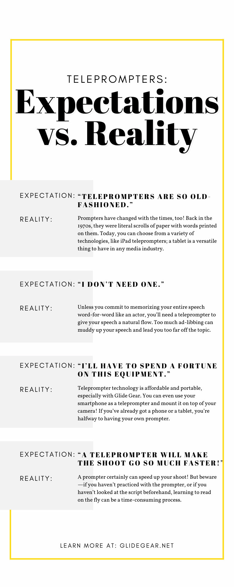 Teleprompters: Expectations vs. Reality