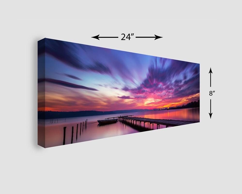 24x8 Panoramic Stretched Canvas