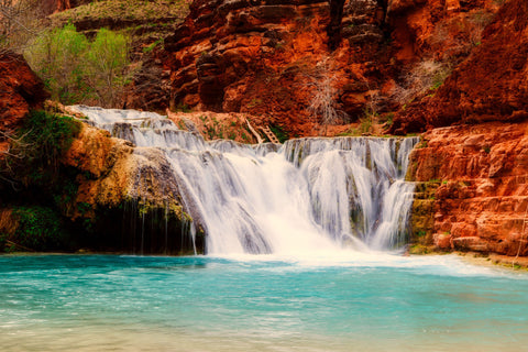 Arizona landscape waterfall falls