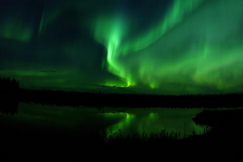 Aurora borealis night