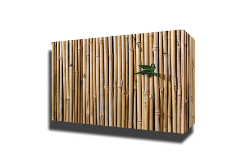 Bamboo barrier screen fence
