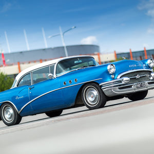 Buick special 1955 old car blue