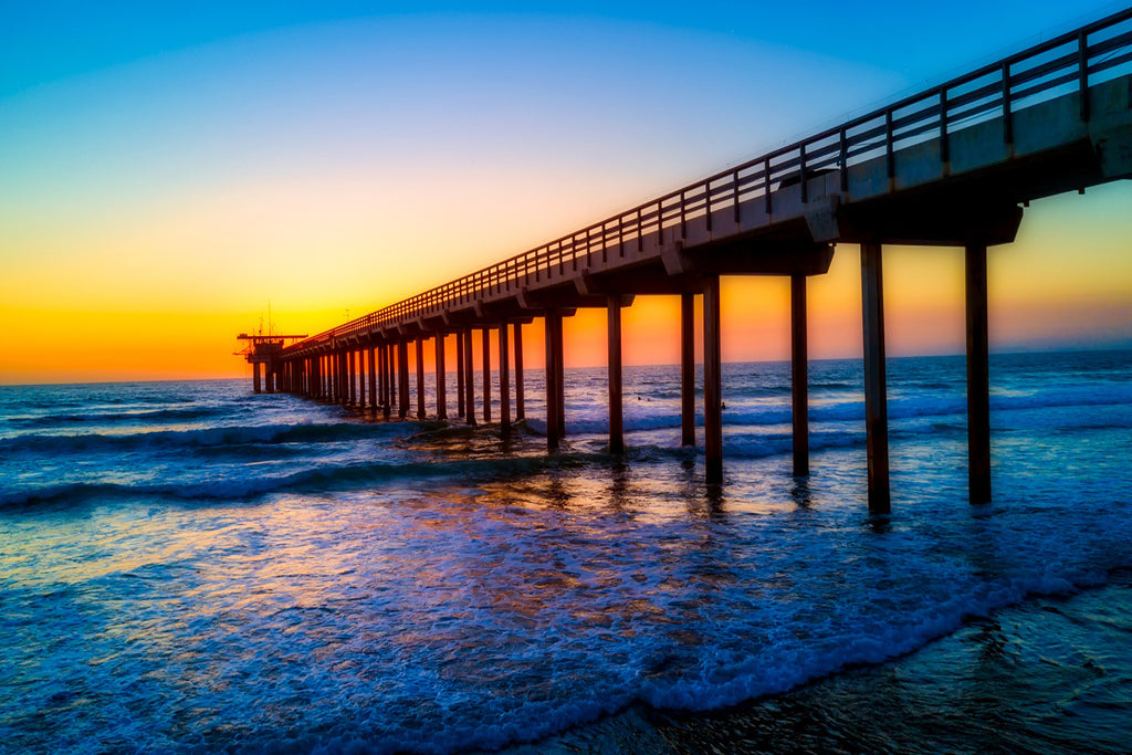 California scripps pier landmark