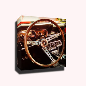 Classic car steering wheel mustang