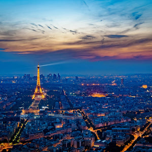 Eiffel tower france sunset