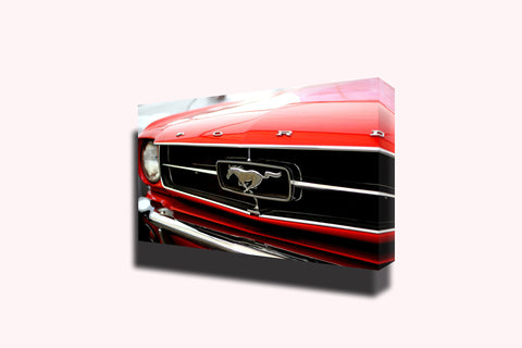 Ford mustang stallion red america