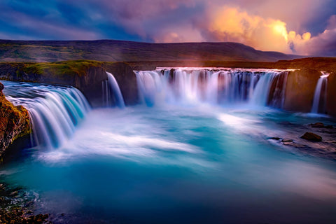 Gooafoss iceland waterfall falls