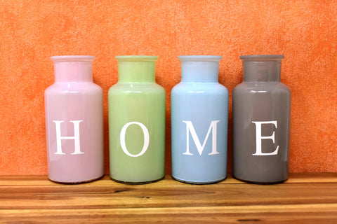 Home at home vases colorful glass