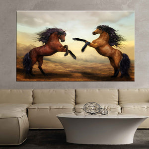 Horses wild horses digital art