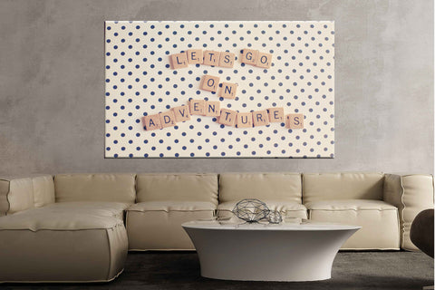 Letters polka dots quote scrabble