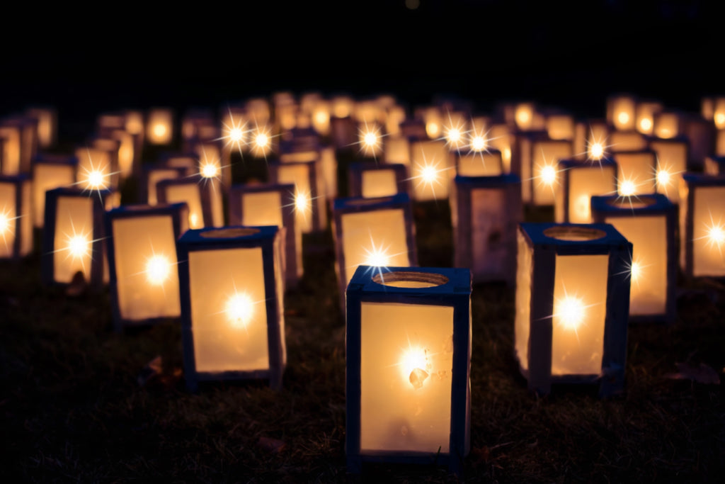 Lights christmas luminaries night