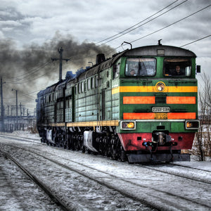 Locomotive diesel russia train