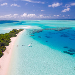 Maldives tropics tropical drone