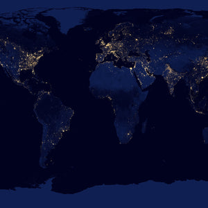 Nasa earth map night sky ocean