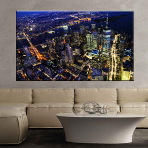 New york cityscape night city