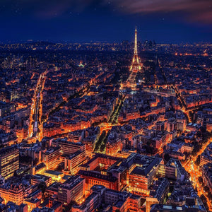 Paris france eiffel tower night