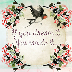 Quote wall art message dream