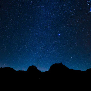 Starry sky star mountains