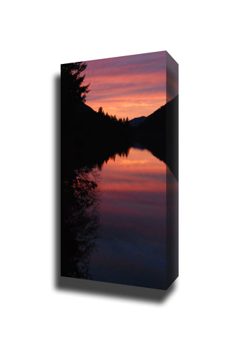 Sunset lake crescent landscape