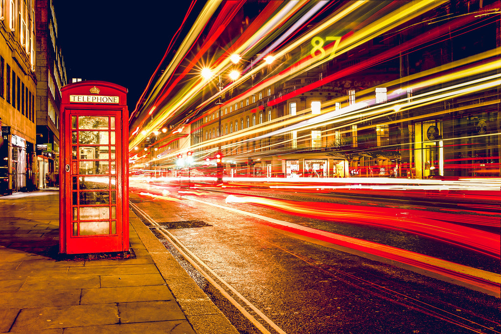 Telephone booth red london england