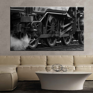 Train locomotive steam power