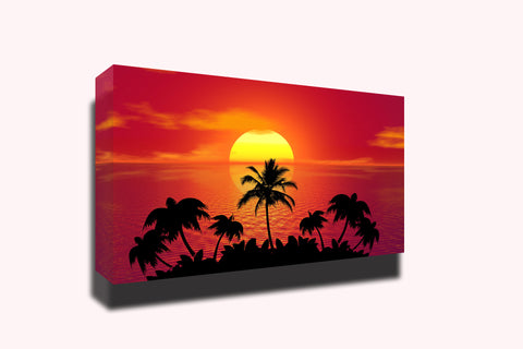 Tropical sunset summer beach sunset