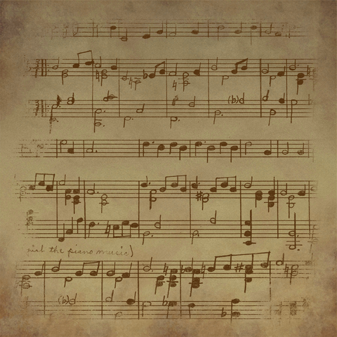Vintage sheet music background