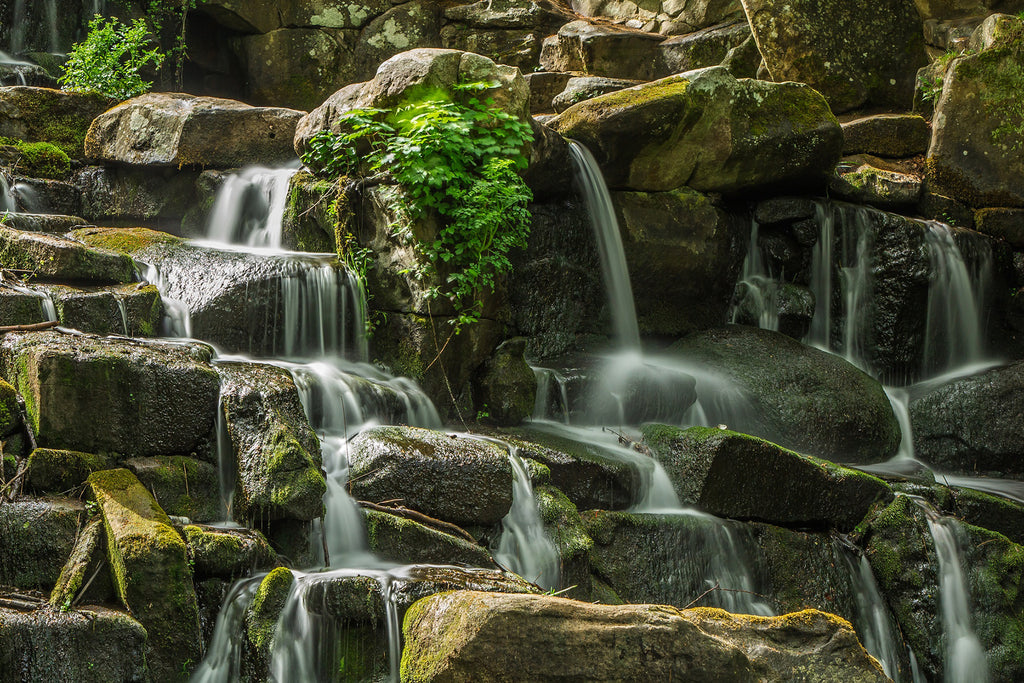Waterfall river nature stones
