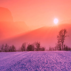 Winter snow sunrise sunset colors