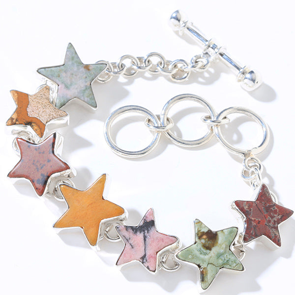 Charles Albert Multi Color Jasper Star Bracelet