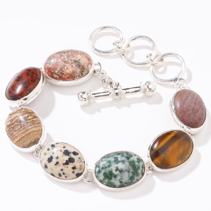 Charles Albert Multi Color Jasper Bracelet