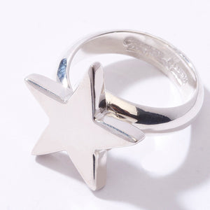 STERLING SILVER STAR ADJUSTABLE RING