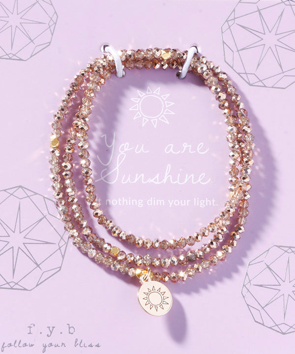 CRYSTAL WRAP BRACELET YOU ARE SUNSHINE