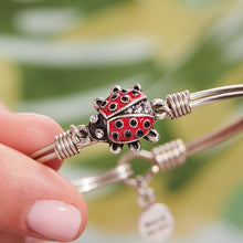 Red Ladybug Bangle Bracelet
