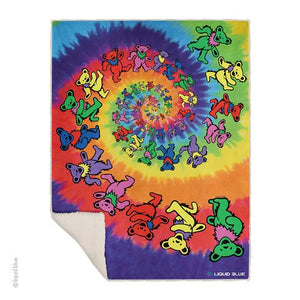 Spiral Bears Fleece Throw Blanket