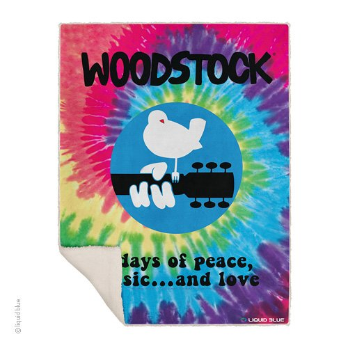 Woodstock Spiral Fleece Throw