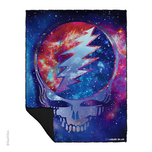 Cosmic Stealie Fleece Throw Blanket
