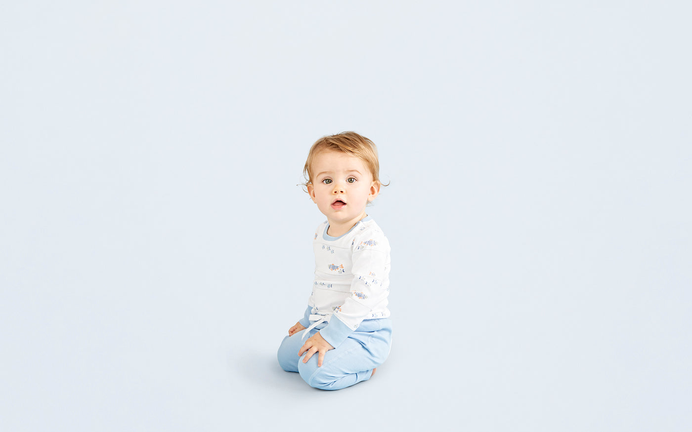 Water Baby Long Sleeve Bodysuit - Sapling Organic Baby Clothes