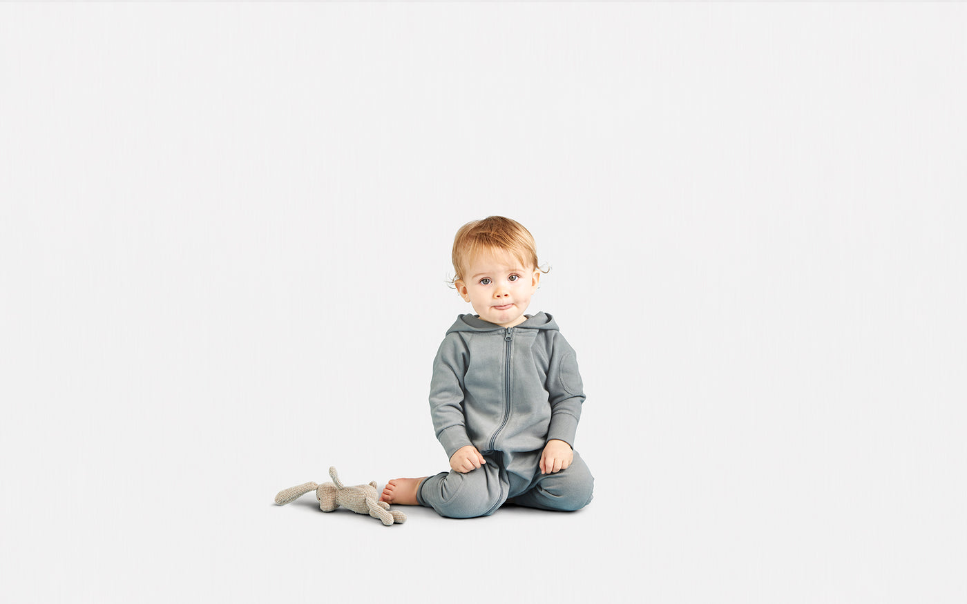 Winter Grey Winter Zipsuit - Sapling Organic Baby Clothes