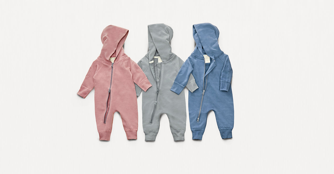 Sugar Plum Winter Zipsuit - Sapling Organic Baby Clothes