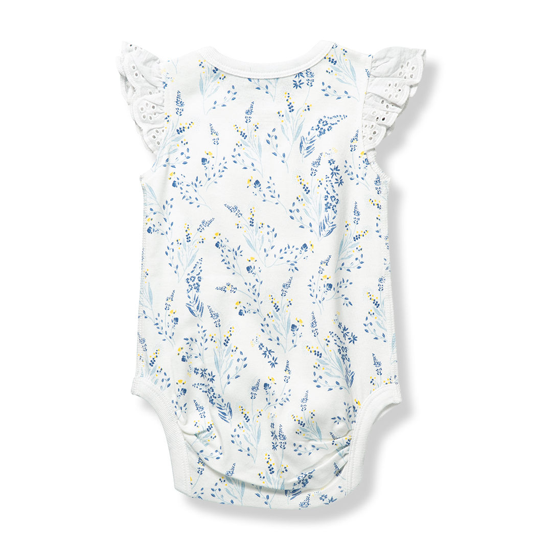 Meadow Lace Bodysuit - Sapling Organic Baby Clothes