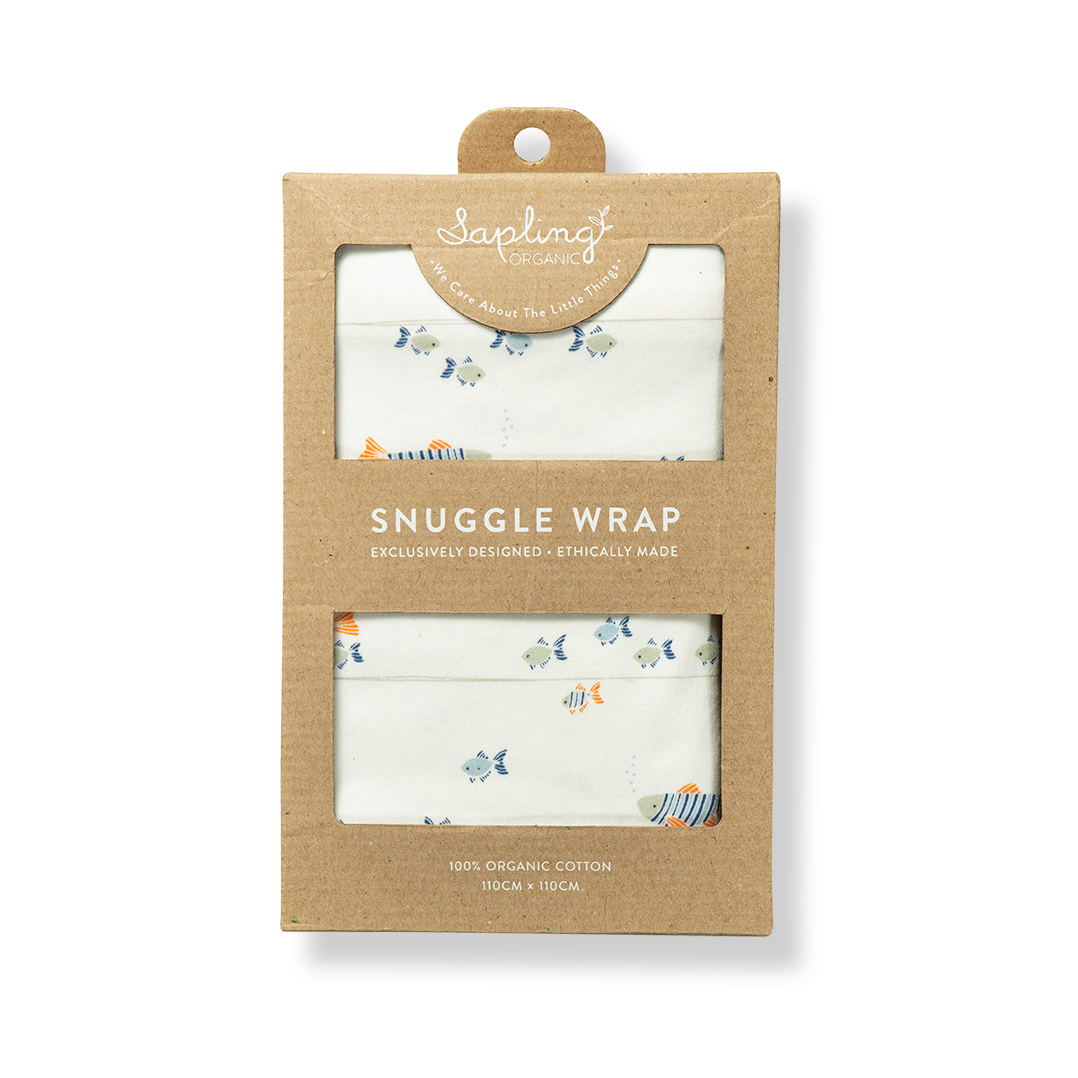 Water Baby Snuggle Wrap - Sapling Organic Baby Clothes