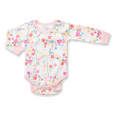 Floral Long Sleeve Bodysuit - Sapling Organic Baby Clothes